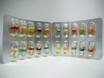 Olio duro della gelatina della capsula Fotografia Stock