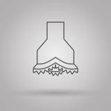 Olio e industria del gas dell'icona dello scalpello Immagini Stock
