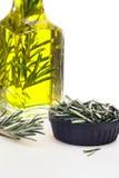 Olio e Rosemary di oliva Fotografie Stock Libere da Diritti