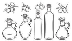 Olio ed olive di oliva royalty illustrazione gratis