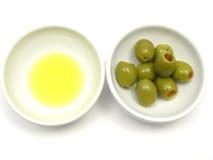 Olio ed olive di oliva immagini stock