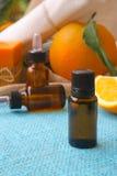 Olio essenziale dell'arancia dolce Fotografia Stock