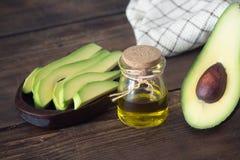 Olio essenziale dell'avocado Fotografia Stock Libera da Diritti