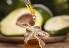Olio essenziale dell'avocado Fotografia Stock