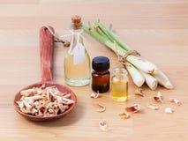 Olio essenziale della citronella Fotografia Stock Libera da Diritti