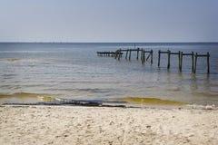 Olio lungo la spiaggia, Mississippi Immagine Stock Libera da Diritti