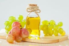 Olio naturale del seme d'uva Fotografie Stock