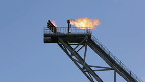 Olio Rig Flare Stack stock footage