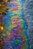 Olio su pavimentazione 2 Fotografia Stock