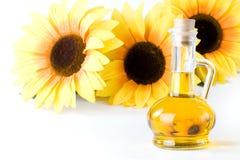 Olio vegetale e del girasole Immagini Stock Libere da Diritti