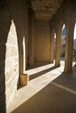 Olite σκεπαστή είσοδος πρόσοψης κάστρων Στοκ εικόνες με δικαίωμα ελεύθερης χρήσης