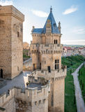 Olite Castle in Navarra, Spain Royalty Free Stock Images