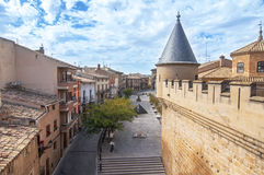 Olite i Nacarra, Spanien Arkivfoto
