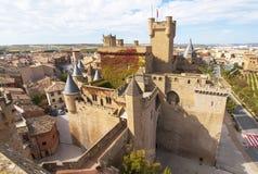 Olite-Schloss, Navarra Stockbild