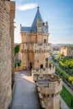 Olite slott i Navarra, Spanien Royaltyfri Bild