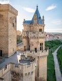 Olite slott i Navarra, Spanien Royaltyfria Bilder