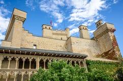 Olite slott, Navarre Royaltyfria Bilder
