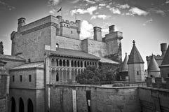 Olite slott, Navarre Arkivfoto