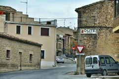 Cityscape of Olite, Spain Royalty Free Stock Images