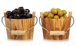 Oliv i hinkar Arkivfoto