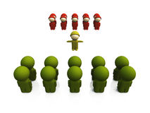 Oliv soldiers in a row 15 Royalty Free Stock Photo