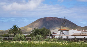 Oliva Fuerteventura Las Palmas Canary för La för bergsikt öar Spanien Arkivbild