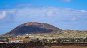 Oliva Fuerteventura Las Palmas Canary för La för bergsikt öar Spanien Arkivfoto