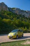 oliva verde dell'automobile piccola Fotografia Stock