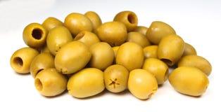 Olive. Macro photo of olives isolated on white Stock Photo