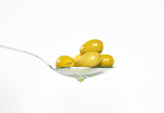 Olive. Background with some green olives Stock Images