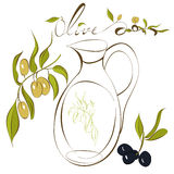 Olive. Universal template for greeting card, web page, background Stock Images