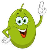 Olive. Cartoon olive pointing with his finger stock illustration