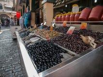 Olive al mercato Fotografia Stock Libera da Diritti