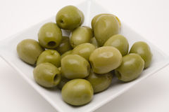 Olive appetizer. On a white background stock image