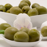 Olive appetizer. On a white background stock images