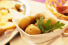 Olive as a symbol of healthy and natural food. Salad with olives as a symbol of healthy and natural food stock images