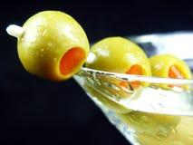 Olive auf der Seite Lizenzfreie Stockbilder