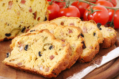 Olive an bacon loaf Stock Photo