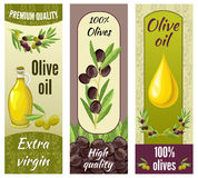 Olive Banner Set Stock Photos