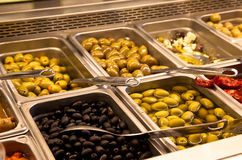 Olive bar Stock Images