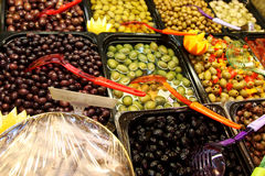 Olive bar Stock Photos