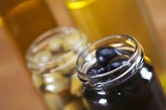 Olive in bianco e nero Fotografie Stock