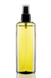 Olive body oil. Plastic bottle Olive body oil Stock Image