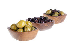 Olive bowls Stock Photo