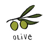 Olive Branch Fotografia de Stock Royalty Free