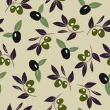 Olive branch background. Vector Olive branch background. Seamless pattern. Vector illustration Royalty Free Stock Photo
