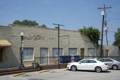 Olive Branch Downtown Street Front Mississippi vattentorn royaltyfria bilder