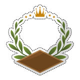 Olive branch emblem icon image Stock Photos