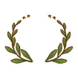 Olive branch emblem icon image Stock Images