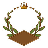Olive branch emblem icon image Stock Photography